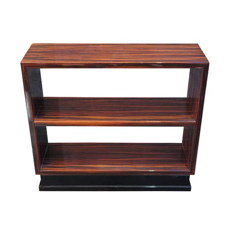 rectangular bookcase side table in macassar