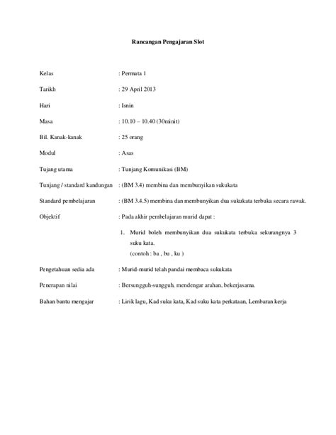 Handbook Pengajaran Dan Penbelajaran Sains rancangan pengajaran slot