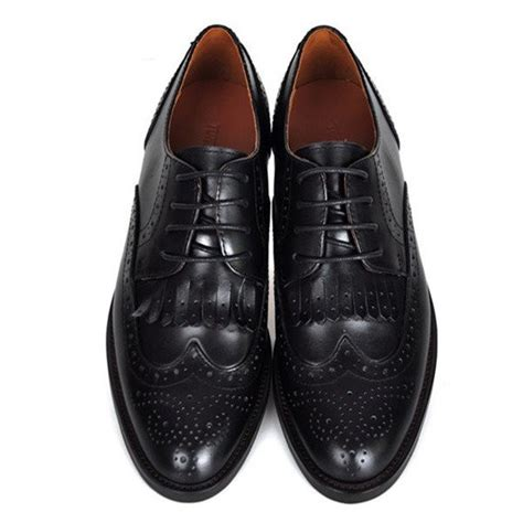 Comfortable Oxfords For by S Oxfords Black Fringe Lace Up Vintage Shoes