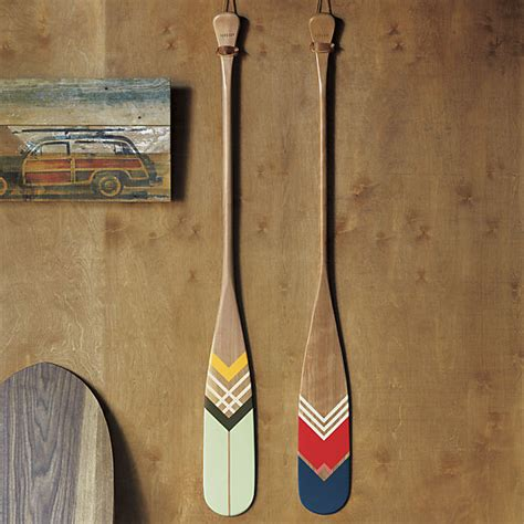 Boat Paddle Decor by Artisan Green Canoe Paddle Eclectic Home Decor By Cb2