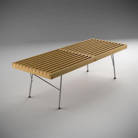 nelson bench metal legs nelson platform bench metal leg 3d model max obj 3ds