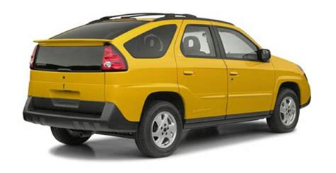 pontiac aztek yellow car industry spannerhead