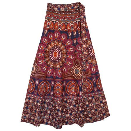 wine colored skirt tlb mulled wine colored mandala skirt with wrap style