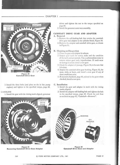 timing sequence   ford  diesel cly tractor