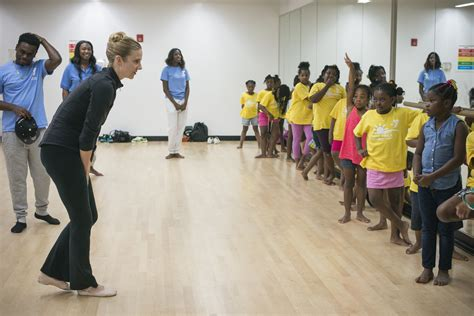 bed stuy ymca ballerina star michele wiles visits bed stuy ymca the