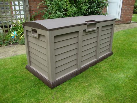 xl size brown garden storage utility cushion box shed