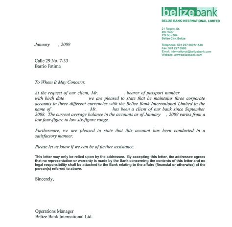 Reference Letter Yacht Stewardess sle bank reference letters starting business