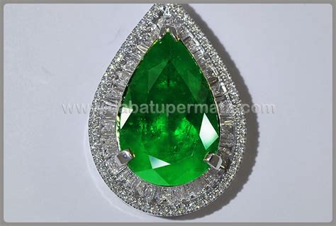 Laris Zamrud Asli Ring Mewah Emerald luxury fresh green emerald columbia li 051