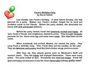 My Birthday Essay by Compositions A Birthday Check Out The Adjectives