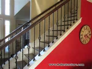Single Stair Handrail Iron Balusters For Stairs And Balconies Balusterstore1