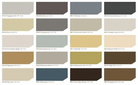 sherwin williams neutral nuance color palette every color in this palette works beautifully