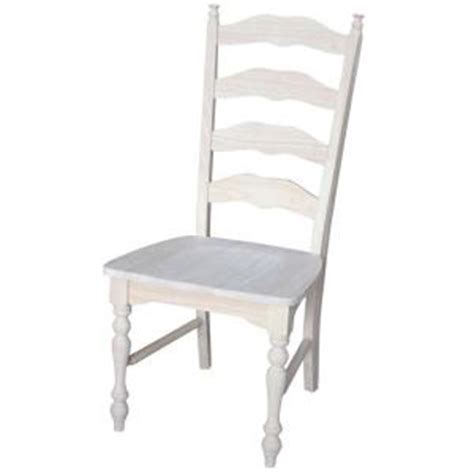 unfinished wooden ladder back chairs international concepts maine unfinished wood ladder back