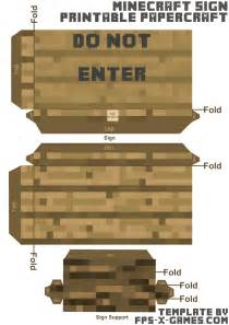 minecraft cut out templates minecraft papercraft do not enter sign template cut out