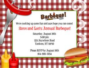 Cookout Invitation Template by Bbq Barbeque Cookout Invitations
