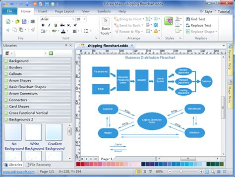 flowchart maker free simple shipping flowchart maker make great looking