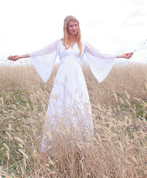Hippie Wedding Dresses by Hippie Wedding Dress With Lace Sleeves Styles Of Wedding