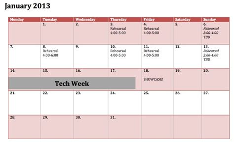 Rehearsal Calendar Template by Search Results For June Calendar 2013 Template