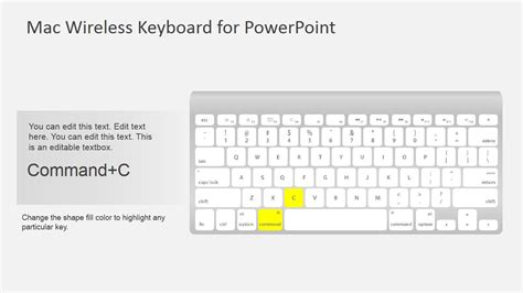 Keyboard Mac Wireless mac wireless keyboard shapes for powerpoint slidemodel