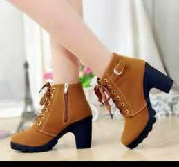 women winter shoes collection with knee length and mid