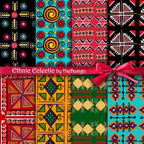 tribal pattern paper tribal digital paper quot ethnic eclectic quot tribal patterns