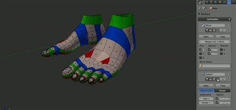 tutorial blender human how to model the topology of a human foot in blender 2 5