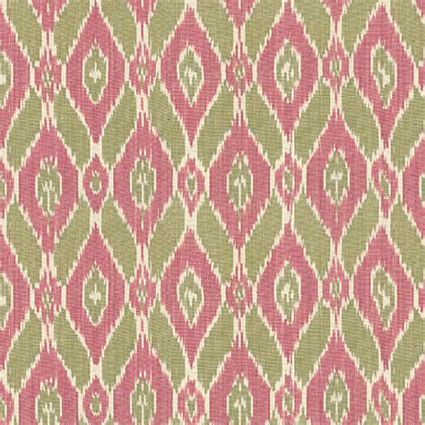 Ikat Drapery Fabric pink and green handwoven ikat fabric eclectic drapery