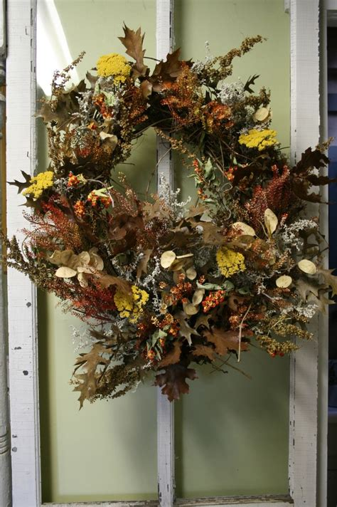 Dried Wreaths Front Door Dried Flower Wreath Floral Wreath Front Door Wreath Fall More Dried Flower