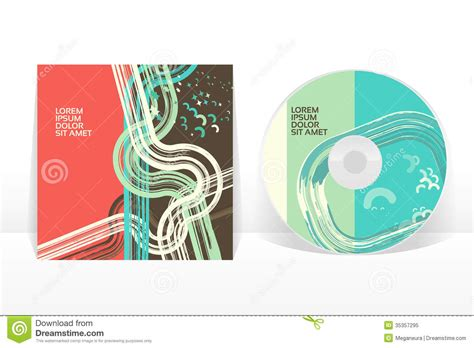 design free cd cover cd cover design template stock vector image of element
