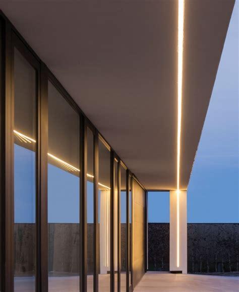 exterior linear led lighting overhanging eave tag delta light exterior