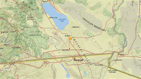 usgs earthquake map california brawley california earthquake swarm rocks new year s cnn