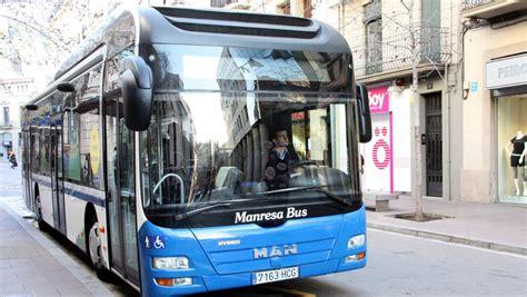 imágenes autobuses urbanos los conductores de autobuses de manresa protestan por el