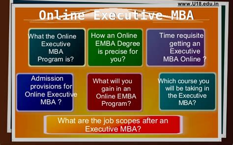 Wha Tis An Exectutive Mba by Executive Mba Complete Guide U18 Distance Education