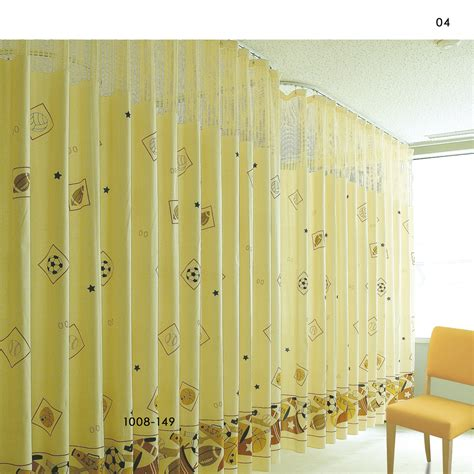 hospital cubicle curtains inherently flame retardant printed cubicle hospital
