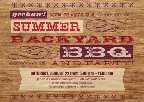 backyard bbq invitations 17 barbecue invitation templates free download images