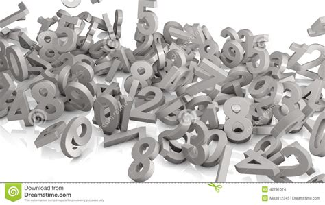 white background with falling numbers numbers falling stock illustration image 42791074