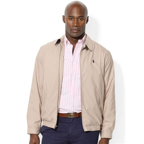 polo ralph lauren bi swing windbreaker polo ralph lauren bi swing windbreaker in beige for men
