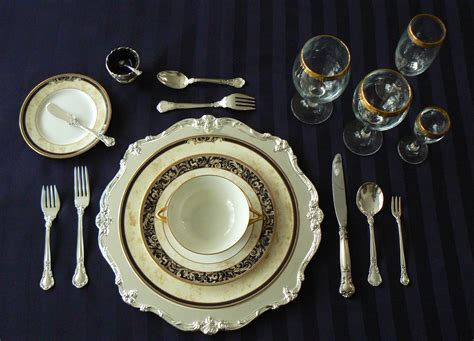 dinner setting of civility dinner etiquette formal dining gentleman s gazette
