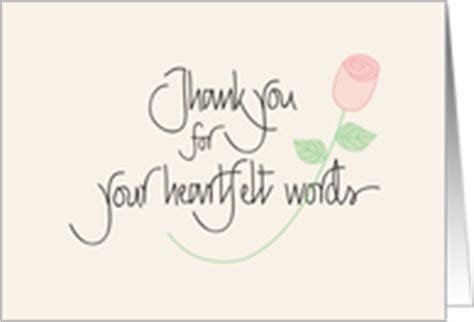 thank you for comforting words thank you cards for sympathy eulogy from greeting card