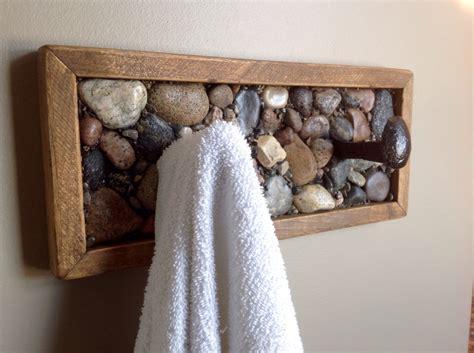 rustic bathroom towel racks rustic towel rack or coat rack