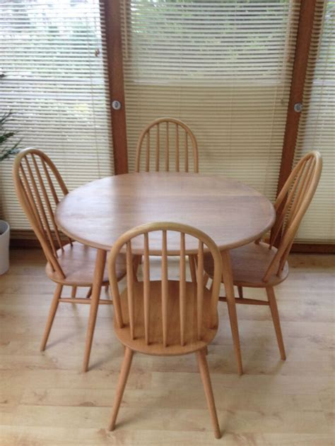 ercol dining table and chairs for sale ercol vintage oval dining table and x4 ercol style dining