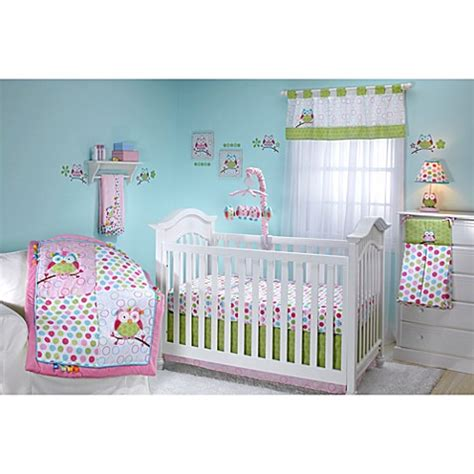 buy taggies owl 4 piece crib bedding set from bed bath