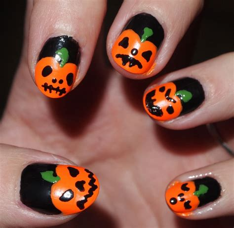 pumpkin nail design pumpkin nail designs nail design ideaz
