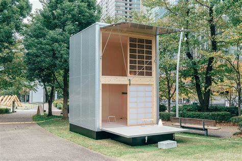 muji hut launches    tiny prefab homes collection