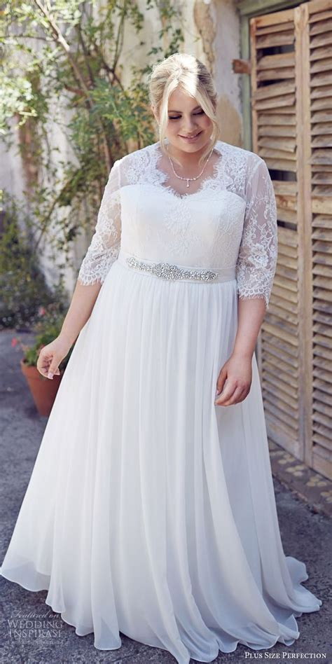 Plus Size Wedding Dresses With Sleeves by 34 Jaw Dropping Plus Size Wedding Dresses Weddingomania
