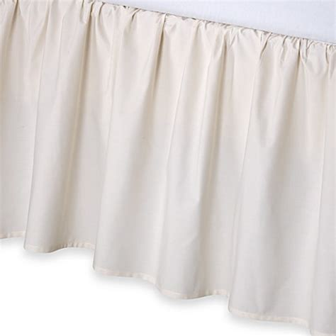 california king bed skirt buy smoothweave 14 inch ruffled california king bed skirt in ivory from bed bath