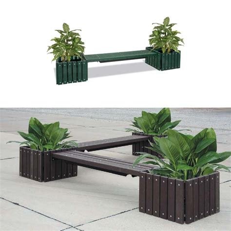Outdoor Planter Bench by Ultraplay Recycled Plastic Bench With Planters
