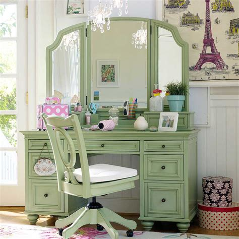 green bedroom set owl design and custom dressing table