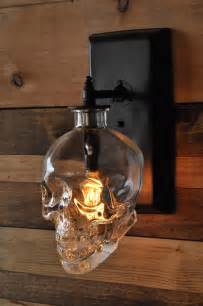 How To Make A Wall Sconce The Skull Wall Sconce Made From Recycled Crystal Head Vodka