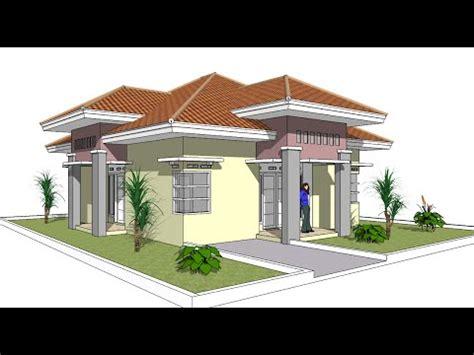 tutorial menggambar rumah dengan google sketchup menggambar rumah satu lantai dengan google sketchup youtube