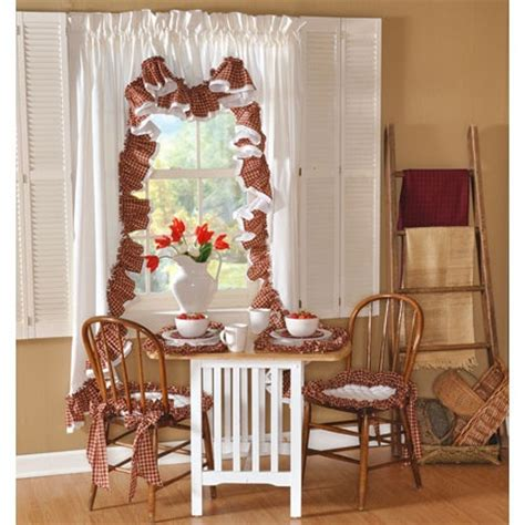 country kitchen and curtains decorating ideas